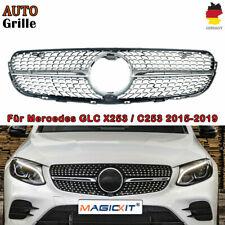 Grill Sport Kühlergrill für Mercedes X253 GLC-Klasse Diamant-Stil ChromSchwarz