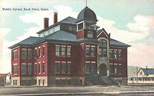 Sand Point Idaho,Public School,Bonner County,Hannd-Colored,c.1909