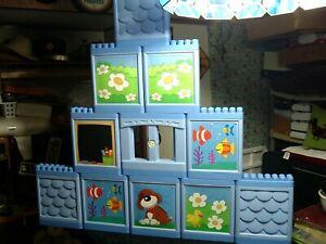 Lot of 11 Mega Bloks Mega Play My Own House Huge Wall Building Panels, Window