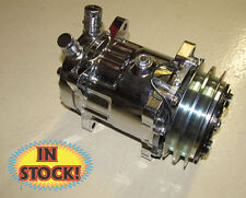 Sanden SD7 4711 A/C Compressor - V-Belt - Chrome - SCV4711C