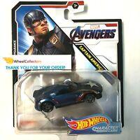 Captain America * 2019 Hot Wheels MARVEL AVENGERS Character Cars * Case J