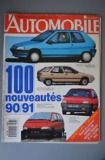 L AUTOMOBILE MAGAZINE N° 523 1990 LE MANS BMW 318 is AUDI 90 QUATTRO CATERHAM