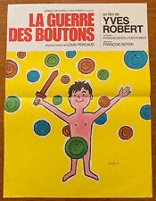 Affiche de cinéma : LA GUERRE DES BOUTONS de YVES ROBERT