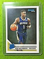 ZION WILLIAMSON ROOKIE CARD PELICANS JERSEY #1 DUKE RC 2019-20 Panini Donruss rc