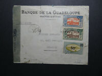 Guadeloupe 1945 Censor Cover to New York - Z10562