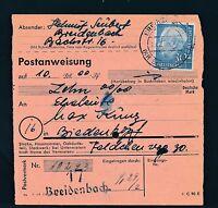 88574) Postanweisung mit EF 30PF Heuss I Breidenbach - Biedenkopf
