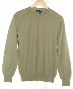 Men's Top From Jeff Banks/Cotton Cashmere Size M Colour Olive