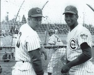 "Ernie Banks & Ron Santo - 8"" x 10"" Photo - 1969 - Chicago Cubs - Wrigley Field"