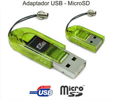 ADAPTADOR MINI USB 2.0 MICRO SD LECTOR USB TRANSPARENTE PC ORDENADOR