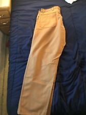NWT BIG BILL FR cat2 Brown/Kahki MEN WORK PANTS WESTEX 30W x 36L INDURA