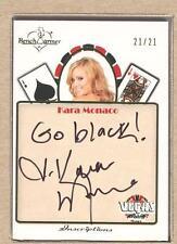 Kara Monaco 2013 Bench Warmer Vegas Baby Inscriptions Autograph Auto 21/21