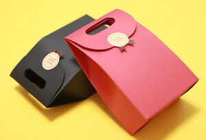 10× Kraft Paper Bags Vintage Party Treat Paper Favor Bags Colorful Handbag