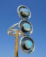 Opal aus Äthiopien - Ring Gr. 15,75 Silber 925
