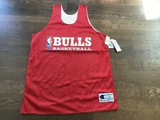 Vintage Deadstock Champion Chicago Bulls Practice Jersey Large Jordan Rodman