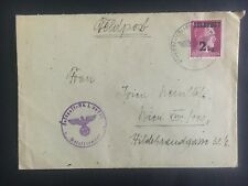 1944 Feldpost Germany Cover to Vienna parcel Stamp 2Kg Sc#MQ3 Army Wehrmacht