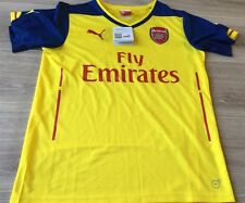 Arsenal Football Shirt Size Kids 32-34 Puma Away Kit 2014 2015 Bnwts