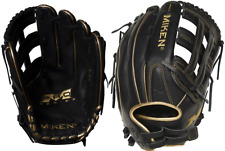 "2020 Miken PRO140-BG 14"" Pro Series Gold Slowpitch Softball Glove Black / Gold"