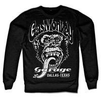 Gas Monkey Garage Dallas Texas Affe Schwarz Weiss Männer Men Sweatshirt