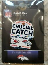 2019 Kansas City Chiefs VS Denver Broncos 10/17/19 Game Day Pin CRUCIAL CATCH