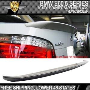 04-10 BMW 5 E60 4Dr AC Style #475 Black Sapphire Metallic Painted Trunk Spoiler