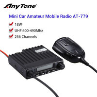 UHF 400-490Mhz 18W Portable Vehicle Mobile Radio Ham Amateur Walkie Talkie + Mic