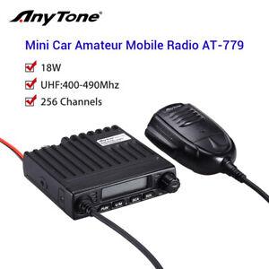 UHF 400-490Mhz 18W Portable Vehicle Mobile Radio Ham Amateur Walkie Talkie +Mic