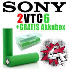 2 x Murata Sony Konion Lithium US18650 VTC6 30A 3120mAh 3,6-3,7 V Akkuboxen