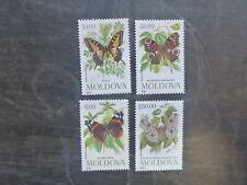 MOLDOVA 1993 BUTTERFLIES SET 4 MINT STAMPS MNH