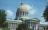 Postcard Missouri State Capitol Building Jefferson City Posted 1958