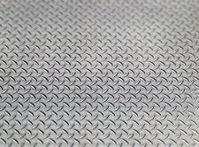 1/10 Scale Diamond Plate Sticker Sheet Garage Shop Toolbox Display 3D Prop Decal
