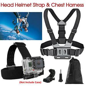 GoPro 3+ 4 5 6 7 8 Accessories Head Helmet Strap Chest Harness Mount Chesty AU