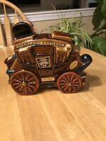 "VINTAGE ERZA BROOKS 1969 WHISKEY DECANTER ""OVERLAND EXPRESS"" STAGECOACH"