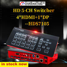 DeviceWell HDS7105 4 HDM DP Video Mini Switcher Fr New Media Live Youtube Ins TV
