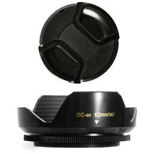 62mm Lens Hood Flower Crown Wide Petal Shape and Lens Cap fo SONY HDR-FX7 HVR-V1
