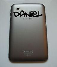 """SAMSUNG Galaxy Tab 7 """"POLLICI nome personalizzato adesivo in Graffiti 2 font Tablet"""