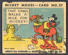 1935 MICKEY MOUSE OPC O PEE CHEE CANADA GUM #27 WALT DISNEY CARD NOT TOPPS