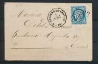 1873 Lettre N°60 obl Conv. Station St-Georges-de-Reneins RHONE (68) P4467