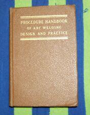 Procedure Handbook of Arc Welding Design & Practice Lincoln Electric Co 1951