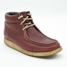 Chippewa Men's 7.5 Wide Leather Chukka Crepe Sole Moccasin-toe Ankle Boots Wedge
