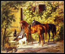 Chart Needlework Craft DIY - Counted Cross Stitch Patterns - Horses at the Porch