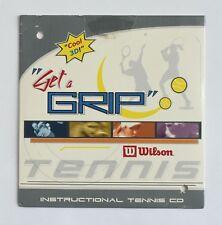 """""""Get a Grip"""" Wilson Instructional Tennis CD Computer Software Program NEW"""