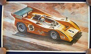 Don Getz Denny Hulme 1971 McLaren M8F Can Am Vintage Poster Art Print