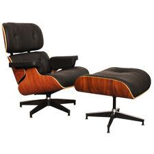 Fauteuil Lounge  & Ottoman style Charles Eames , 100% Cuir   , Bois de Rose