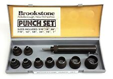 Hardly-used Vintage Brookstone 10-pc. Hollow Punch Set — Free Shipping!