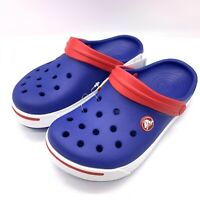 Crocs Crocband II Kids Slip On Clogs In Blue/White/Red Boys&Girls Crocs Kids New