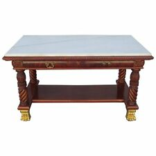 19th century Superb American Classical Library Table or Desk -HarknessProvenance