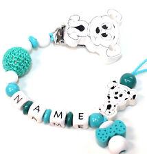 Schnullerkette mit Namen Dalmatiner Hund Baby Junge Mädchen