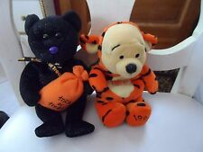 Lot of 2 Disney Pooh in Tigger costume and Ty Trickster Halloween bear