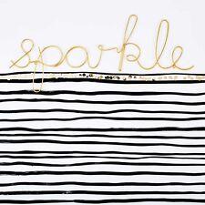 Bombay Duck 'Sparkle' Wort in Gold Draht - Zimmer Schild Wand Dekoration