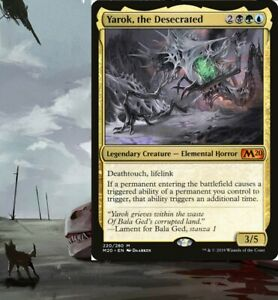 Yarok, the Desecrated *ETB EFFECTS* Commander Deck BUG MTG Magic Ready-to-Play